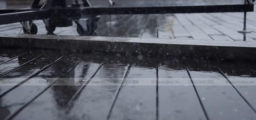 Gỗ nhựa ốp mặt tiền có khẳ năng chống thấm ẩm