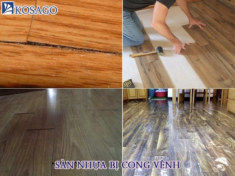 Nguyên nhân sàn nhựa giả gỗ bị cong vênh